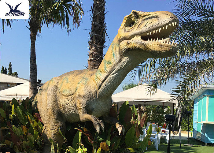 High Simulation Large Dinosaur Garden Ornaments , Moving Dinosaur Yard Model