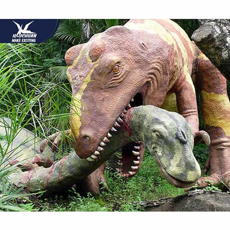 Moveable Realistic Dinosaur Models For Museum Exhibition / Life Like Garden Animals